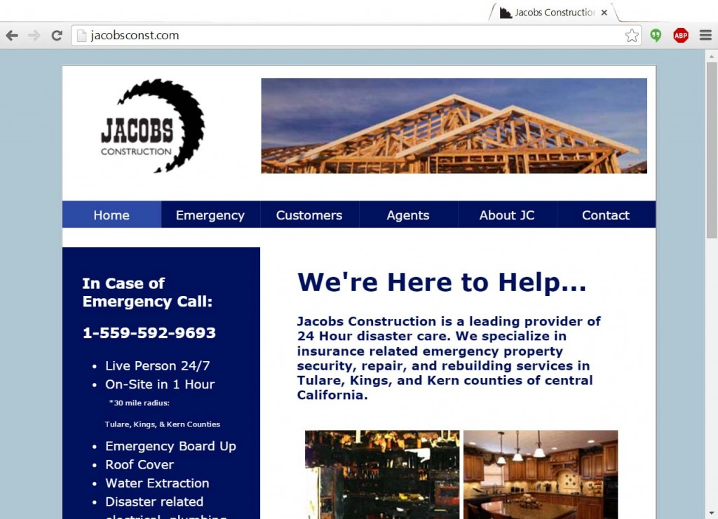 Jacobs Construction Website Image