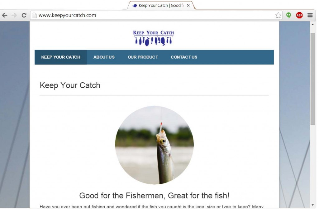 Keep Your Catch Website Image