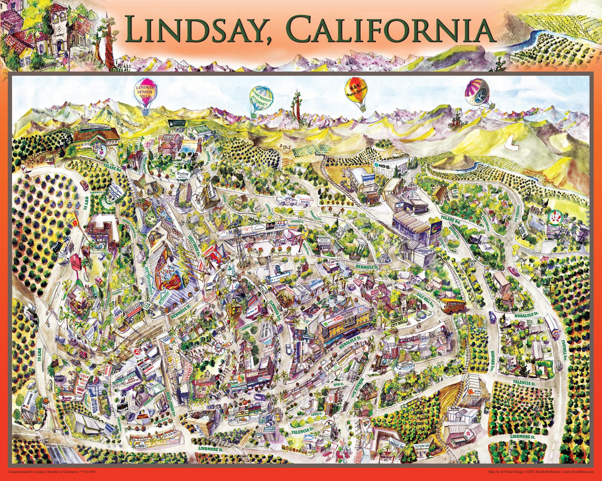 Lindsay City Map - 2012