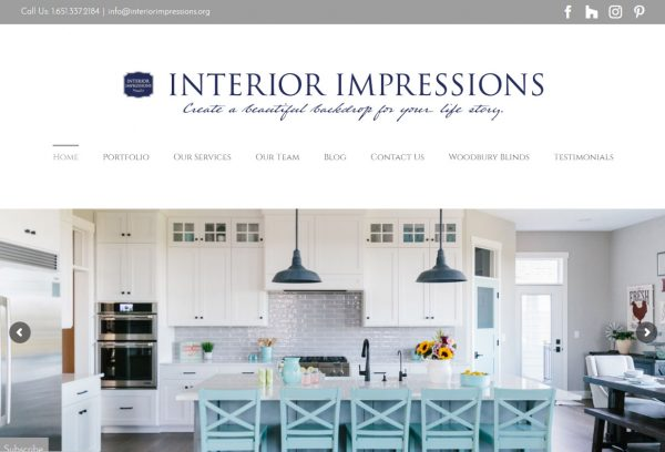 Wordpress site redesign for an Interior Designer