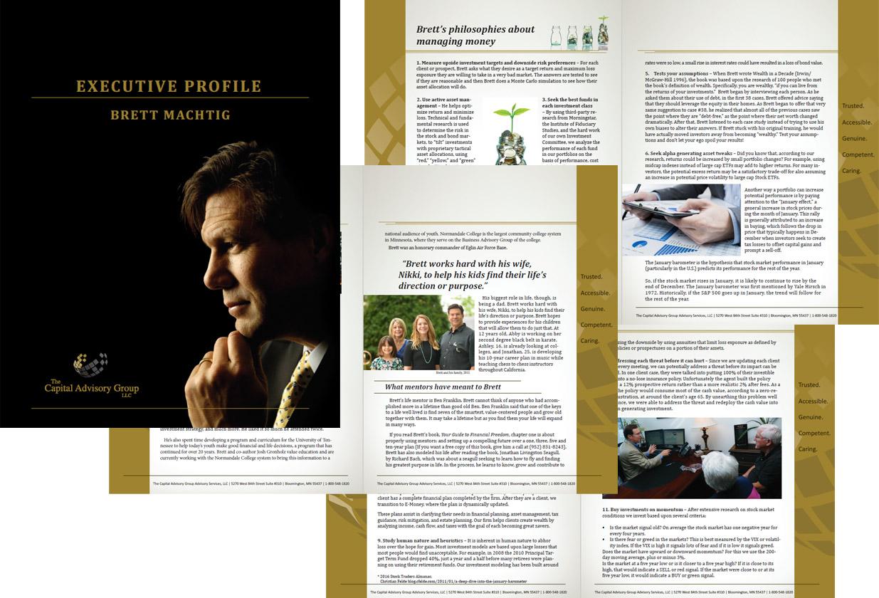 Brett Machtig Financial Advisor Executive Profile Brochure